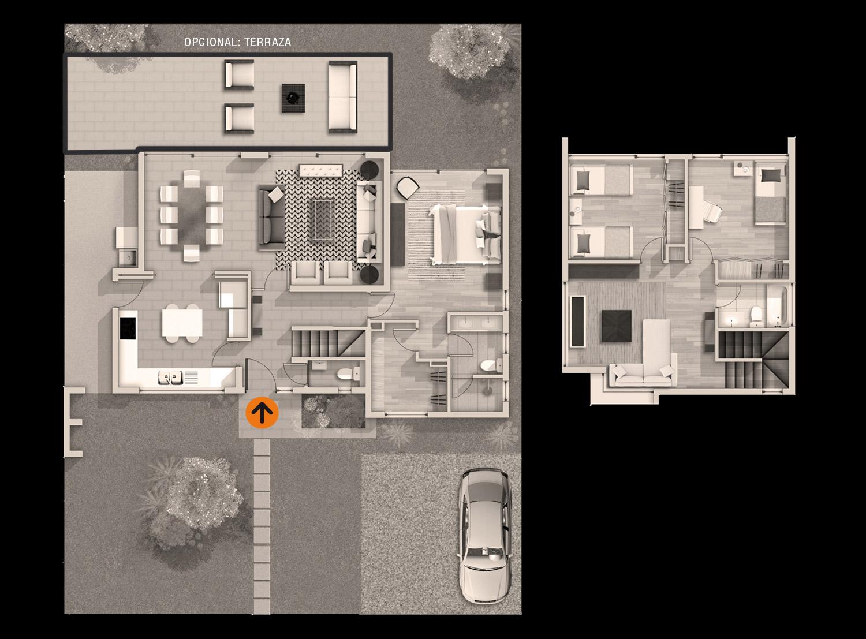 Casa 140 for Casa moderna 140 m2